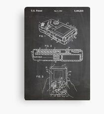 1993 Nintendo Gameboy Video Game Invention Patent Art, Blackboard Canvas Print