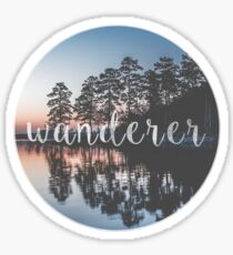 Wanderer Nature Photo Sticker