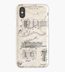 1956 Fender Stratocaster Guitar Invention Patent Art iPhone Case/Skin