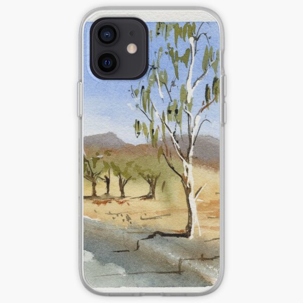 Small eucalypt in the Flinders Ranges iPhone Soft Case