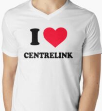 I Love Centrelink Men's V-Neck T-Shirt