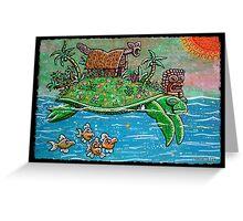 Tiki Travelers Greeting Card
