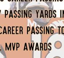 Peyton Manning Statistics Retirement Sticker