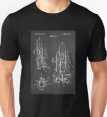 NASA Space Shuttle Invention Patent Art, Blackboard Unisex T-Shirt