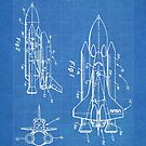 NASA Space Shuttle Invention Patent Art, Blueprint by Steve Chambers