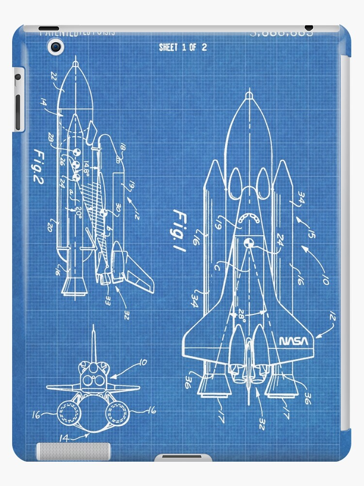 Nasa space shuttle invention patent art blueprint ipad cases nasa space shuttle invention patent art blueprint by steve chambers malvernweather Image collections