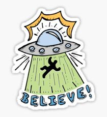 Abduction Believe Sticker