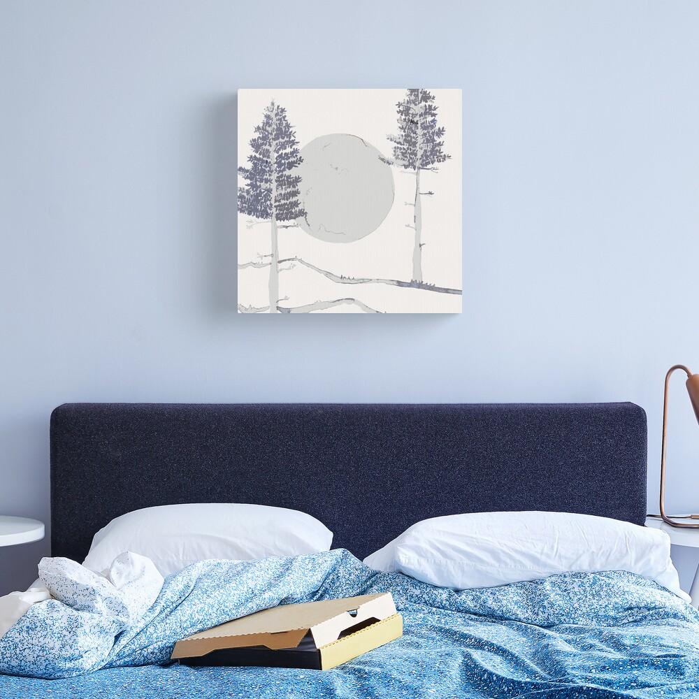 Mond und Bäume Leinwanddruck