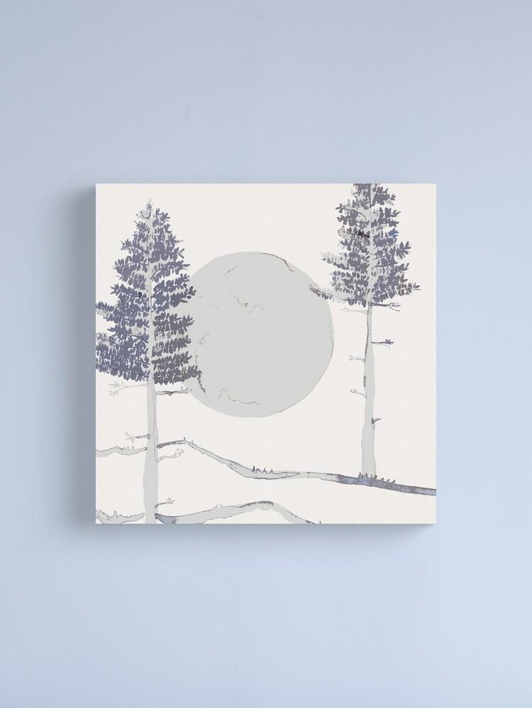 Alternative Ansicht von Mond und Bäume Leinwanddruck