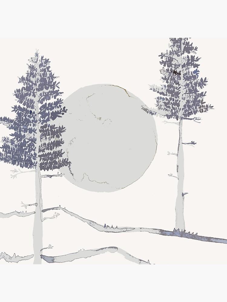 Mond und Bäume von RanitasArt