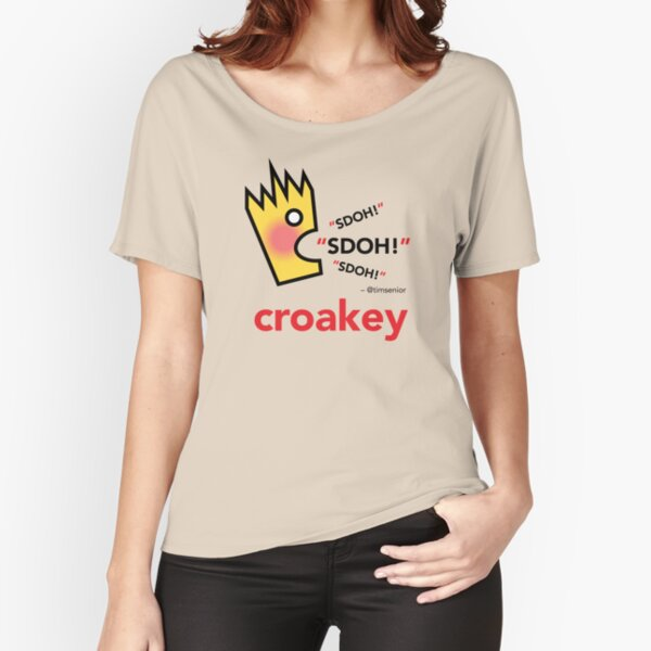 Croakey signature graphic - SDOH! Relaxed Fit T-Shirt