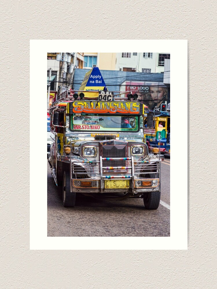 Alternate view of Classic Jeepney Art Print