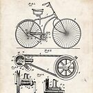 1890 Bicycle Invention Patent Art by Steve Chambers