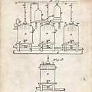 1873 Beer Brewing Invention Patent Art by Steve Chambers