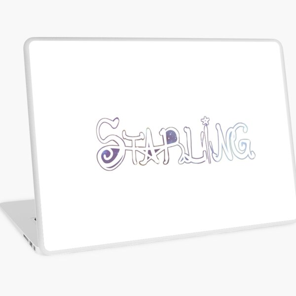 Starling Tshirt Laptop Skin