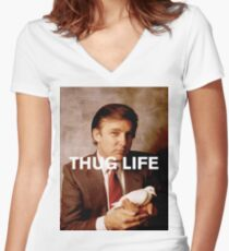 Throwback - Donald Trump Women's Fitted V-Neck T-Shirt