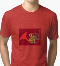 French horn Paint  Tri-blend T-Shirt