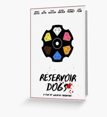 Reservoir Dogs film poster Greeting Card