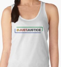 #JustJustice long on white Women's Tank Top
