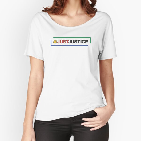 #JustJustice long on white Relaxed Fit T-Shirt