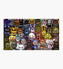 FNaF five 5 nights at Freddy's Game Gamer Gaming Cosplay Gift Photographic Print