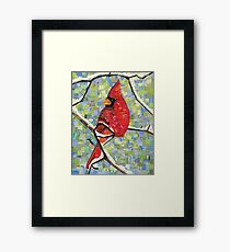 Majestic Red Cardinal Framed Print