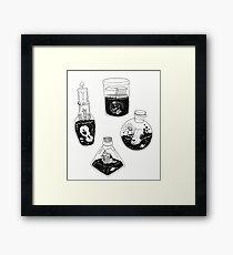 Witch bottles Framed Print