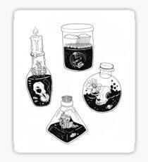 Witch bottles Sticker