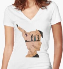 Peter Pan on Big Ben Women's Fitted V-Neck T-Shirt