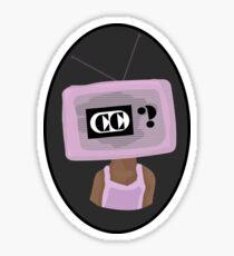 Captions? TV Head Sticker