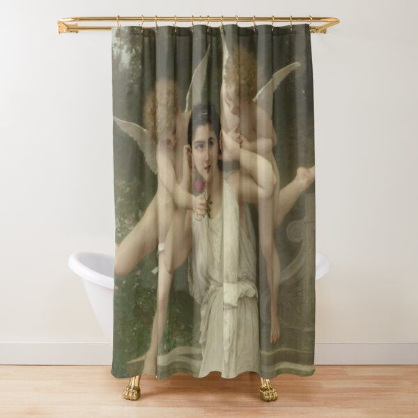 Realism Renaissance Famous Paintings: Youth, 1893, William-Adolphe Bouguereau Shower Curtain