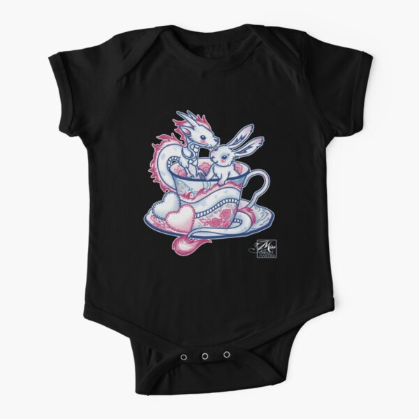 The Dragon and the Rabbit Short Sleeve Baby One-Piece