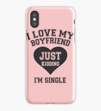 I Love My Boyfriend iPhone Case/Skin