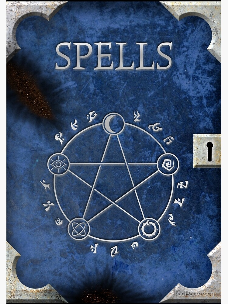 Spellbook Blue by TadPatterson