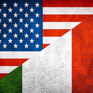 Half Italian Half American Flag by freestyleINK