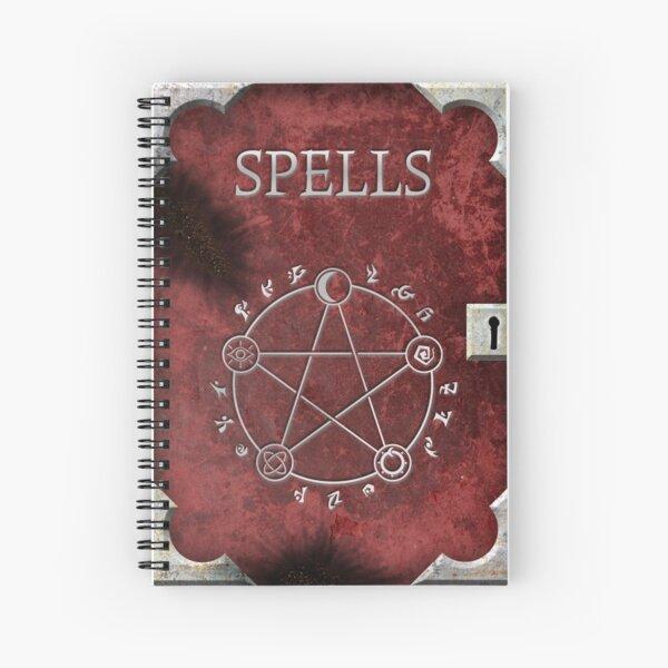 Spellbook Red Spiral Notebook
