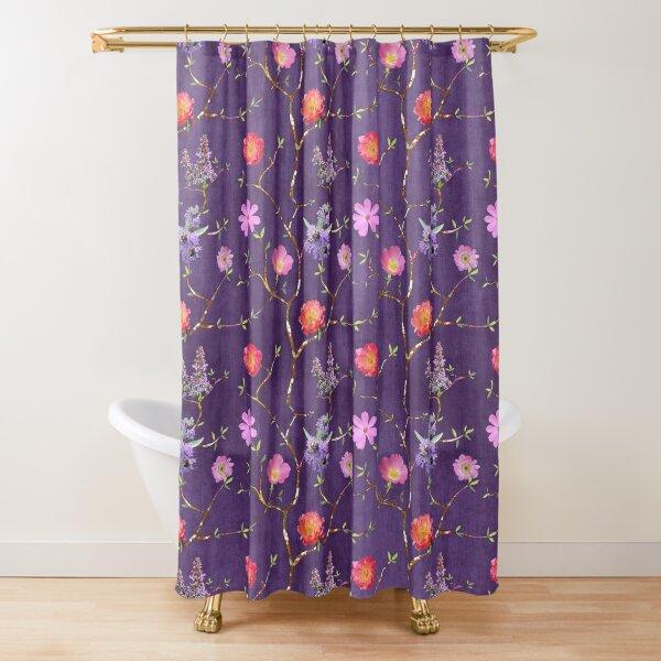 Chinoiserie Garden in Violet Shower Curtain