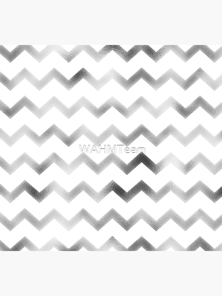 Silver and White Chevron Zig Zag Pattern by WAHMTeam