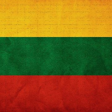 Lithuania Flag by freestyleINK