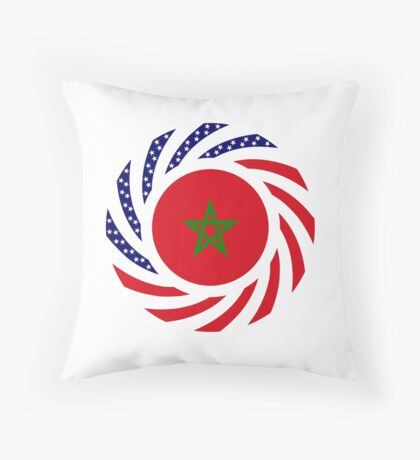 Moroccan American Multinational Patriot Flag Series Throw Pillow