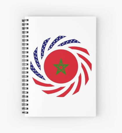 Moroccan American Multinational Patriot Flag Series Spiral Notebook