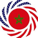 Moroccan American Multinational Patriot Flag Series by Carbon-Fibre Media
