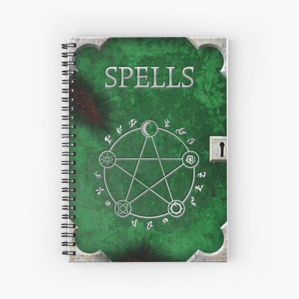 Spellbook Green Spiral Notebook