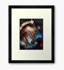 When Solar Flares Meet Singularities Framed Print