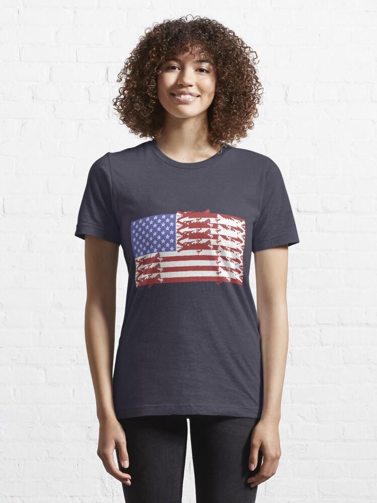 Alternate view of Ye Olde Glory Essential T-Shirt