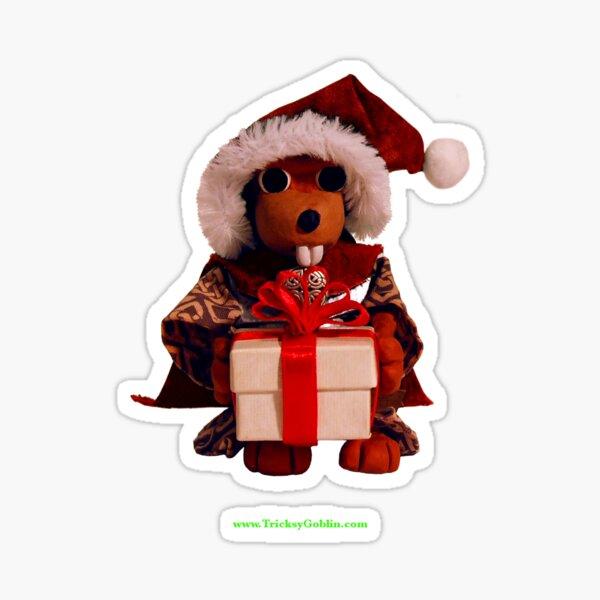 Lucky the Beaver Solstice Card Sticker