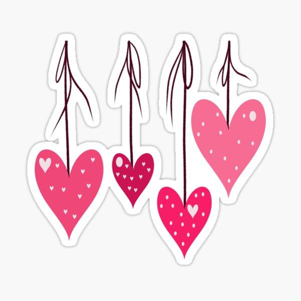 Hanging Hearts, Valentines Day, Anniversary, Wedding, Engagement Sticker