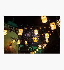 Lanterns and Fireworks Photographic Print