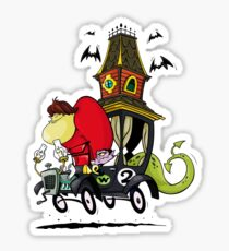 Gruesome Twosome Wacky Races Sticker