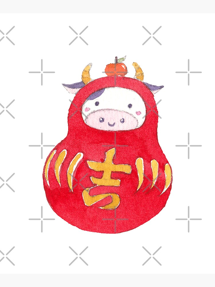 Lucky Cow Daruma by whya